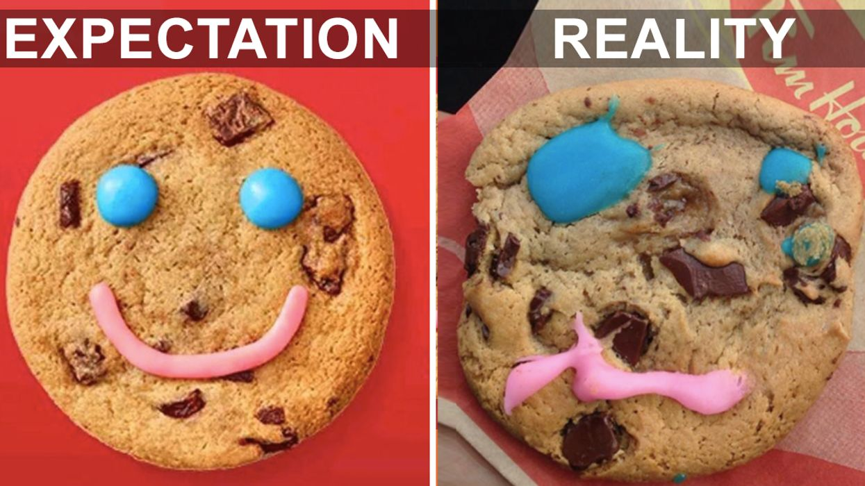 """The Most Hilariously Messed Up Tim Hortons """"Smile Cookies"""" In Canada"""