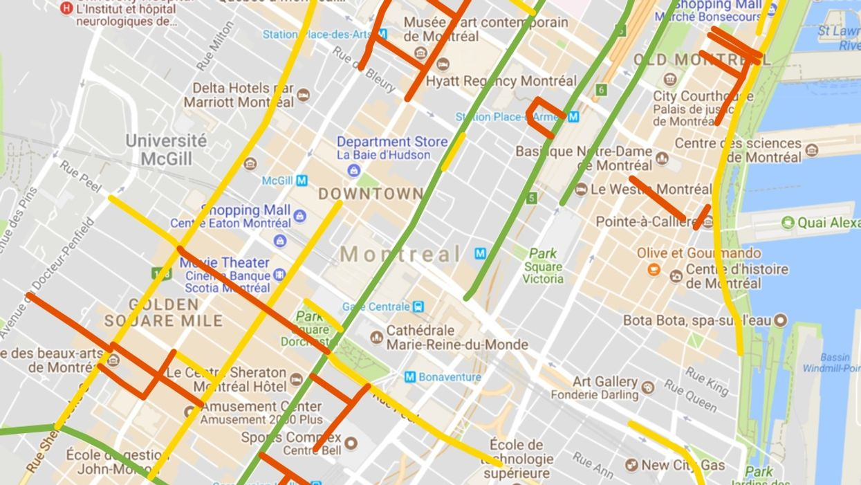 A Map Of All The Closed Streets To Avoid In Montreal This Weekend