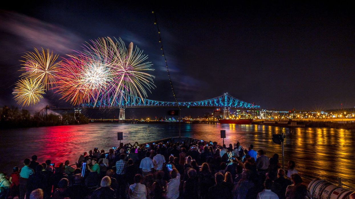 You Can Watch Montreal's Fireworks Festival From A Cruise Ship This Summer