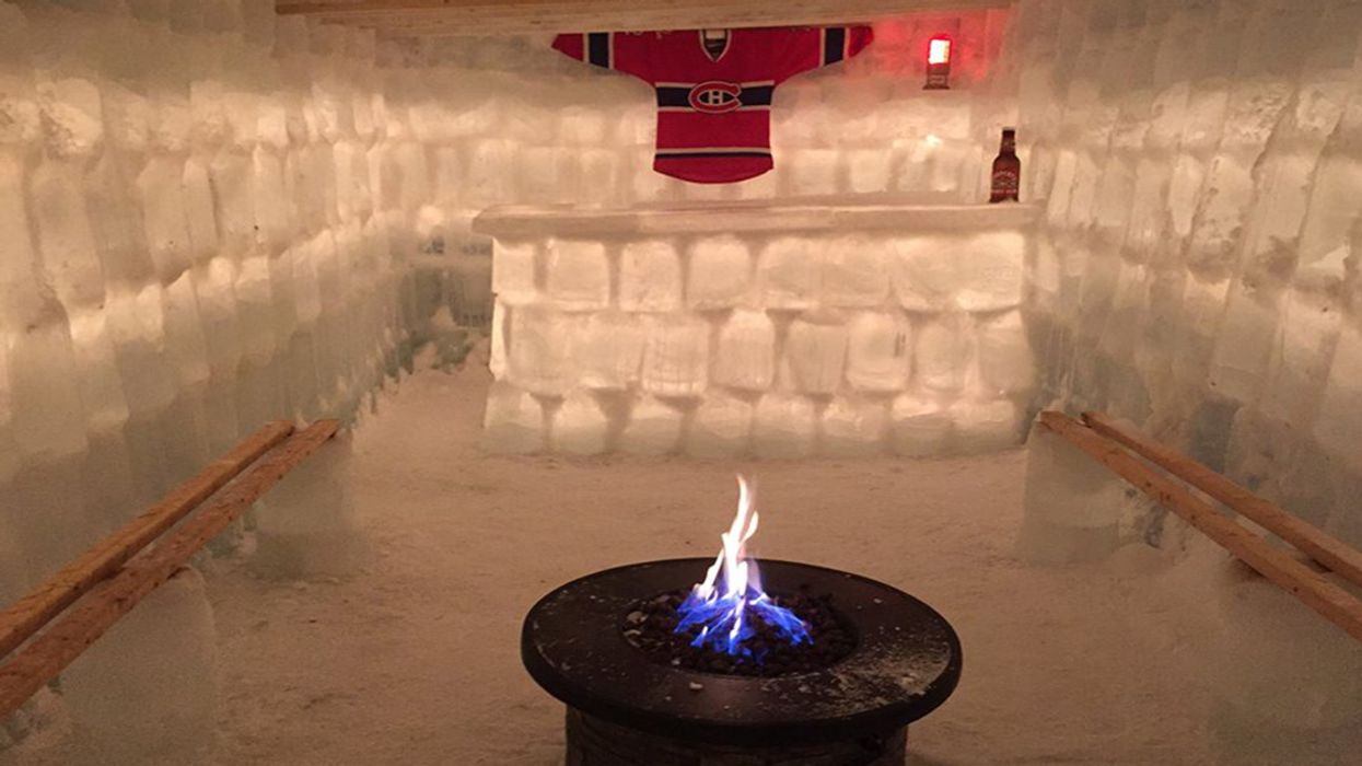 Quebec Man Builds Insane Ice Castle In His Backyard