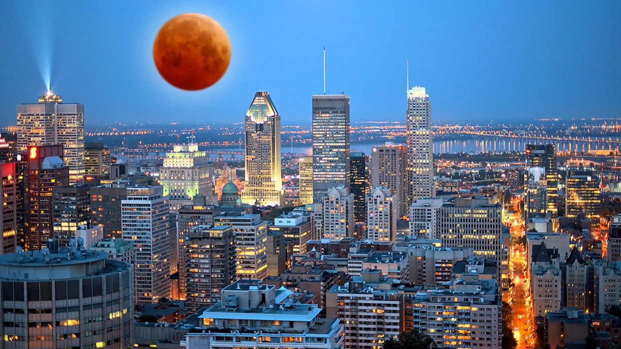 """A Rare """"Super Red Moon"""" Eclipse Will Be Visible In Montreal This Month"""
