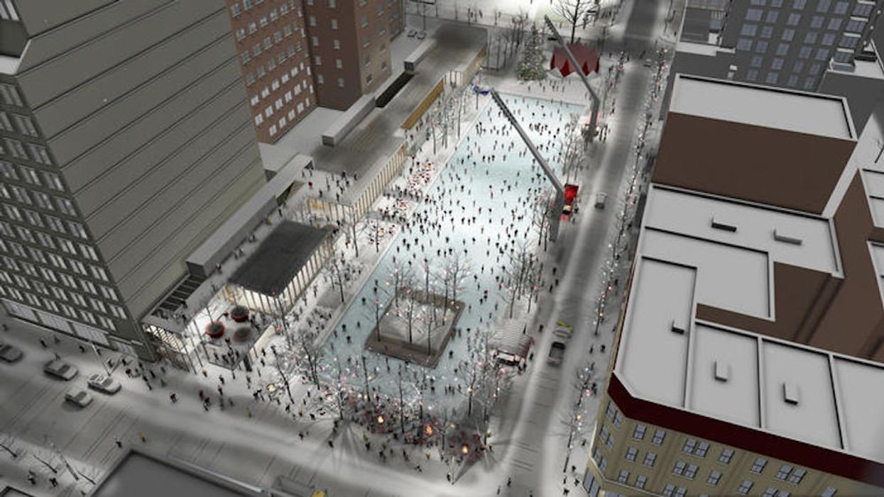 """Montreal To Get Giant """"Rockefeller Center"""" Downtown Skating Rink"""