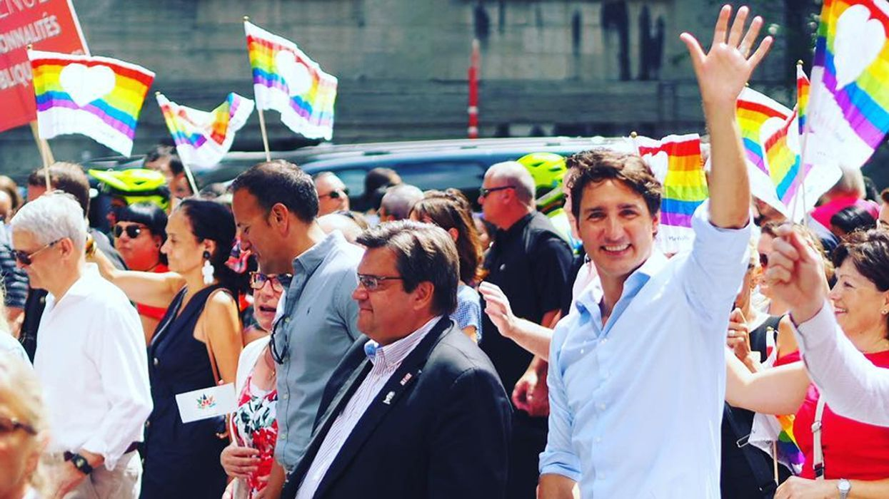 Justin Trudeau Marching In Montreal Pride Parade 2017 (Photos)