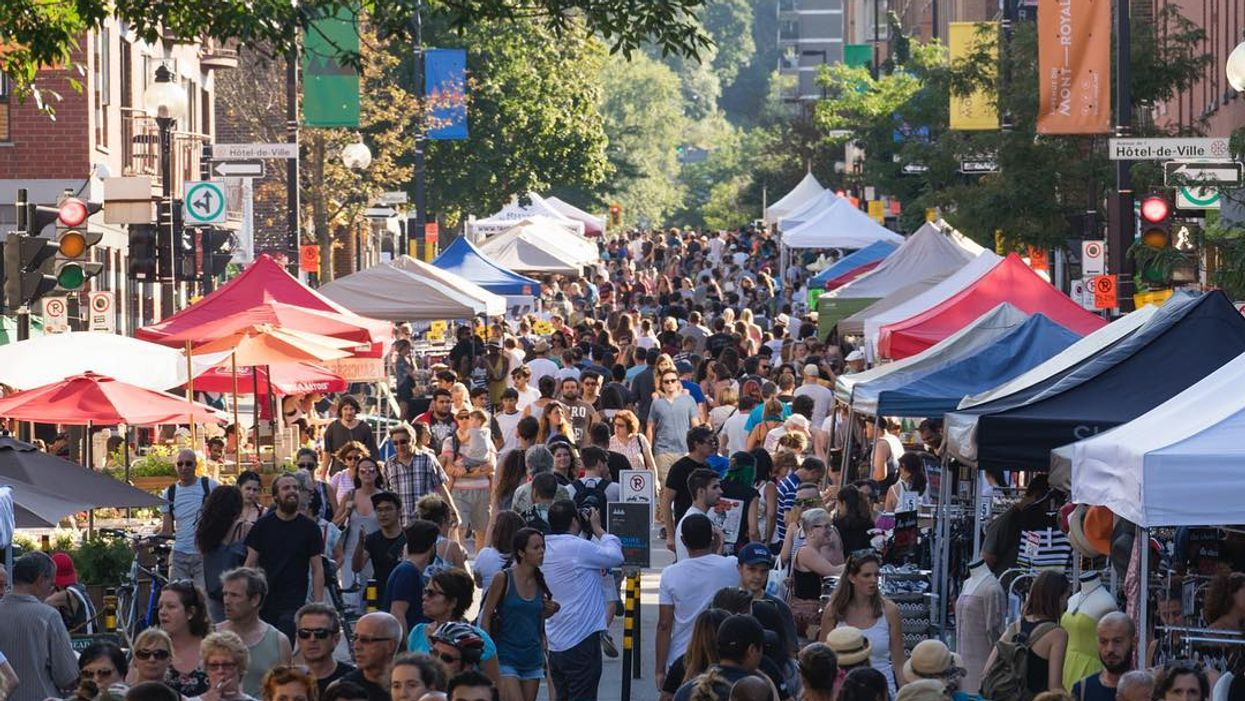 Montreal Is Closing Off Avenue Mont Royal For Insane End Of Summer Sidewalk Sale