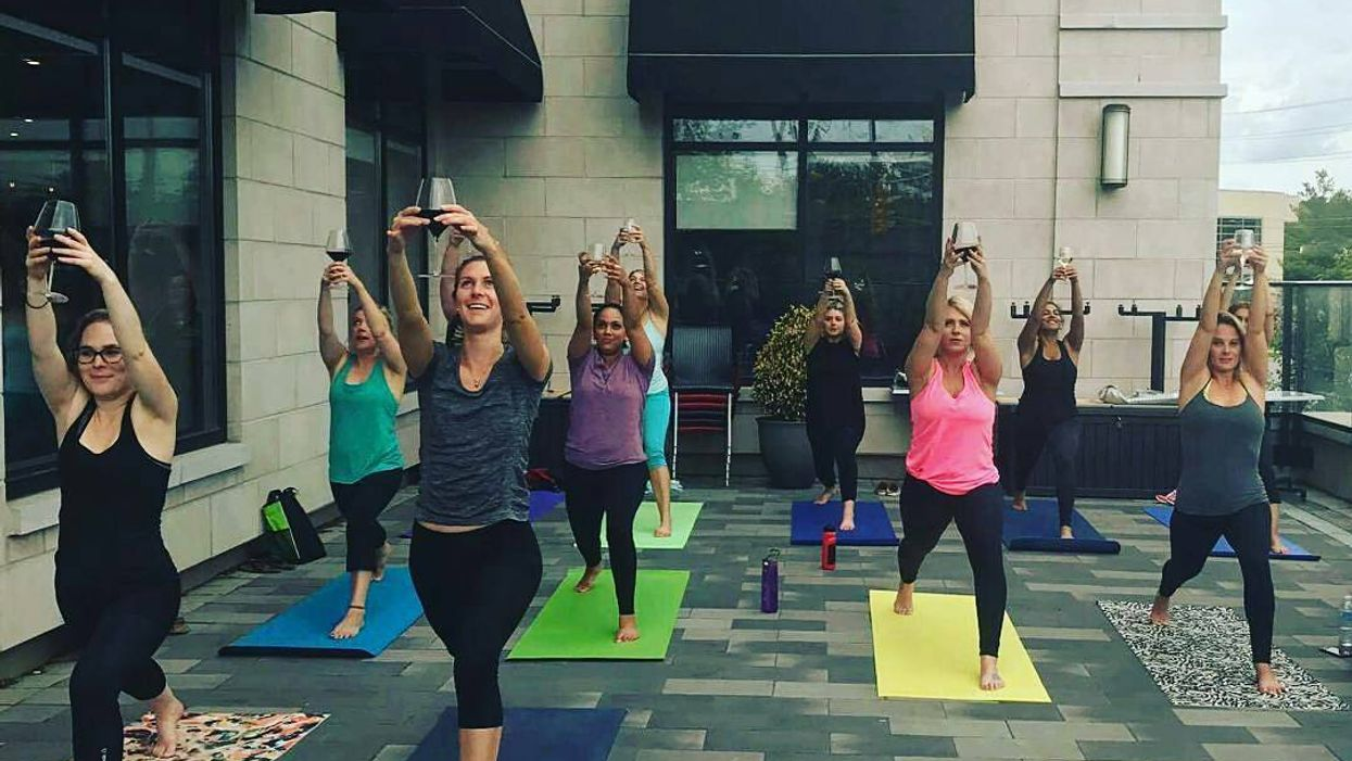 """You Can Now Take """"Wine Yoga Classes"""" In Montreal"""