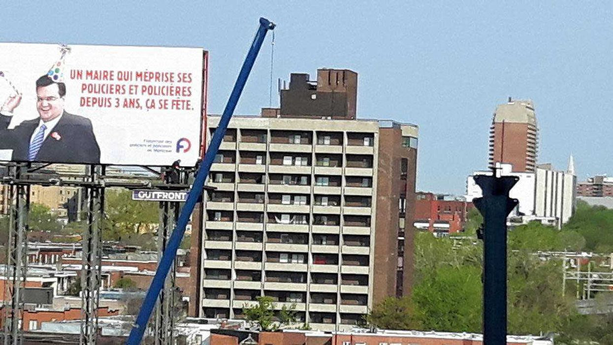Giant Billboard Installed Overnight Near Jacques Cartier Bridge You Gotta See To Believe