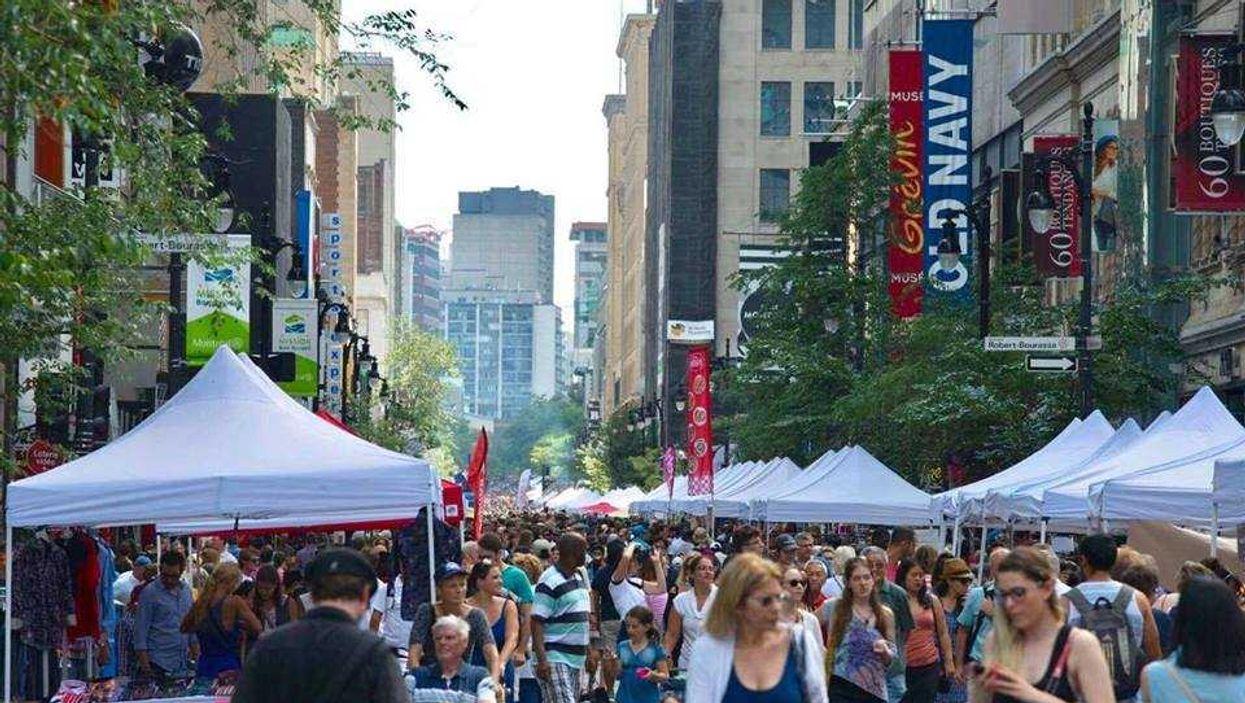 Montreal Closing Off Sainte-Catherine Street For Huge Sidewalk Sale