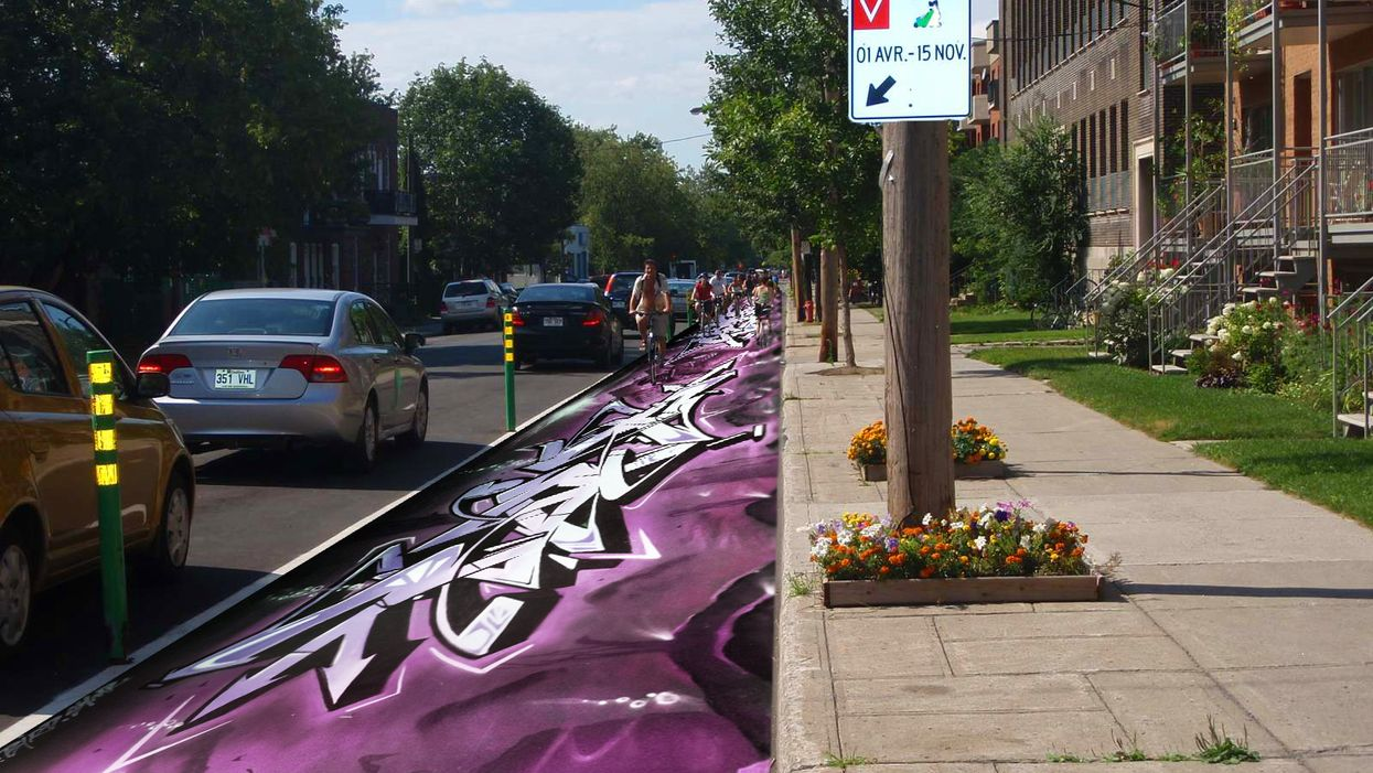 Montreal Could Be First City To Let Street Artists Paint Bike Paths