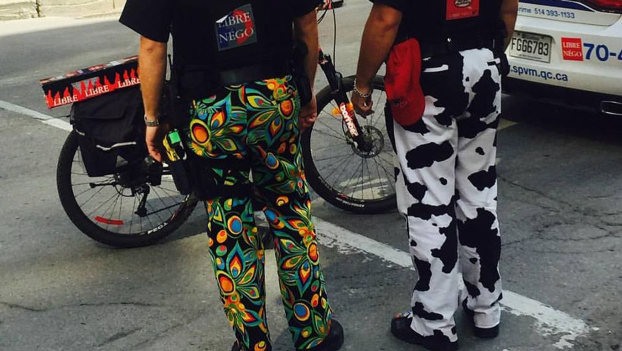 Montreal Cops Spotted Taking The Pants Protest Too Far
