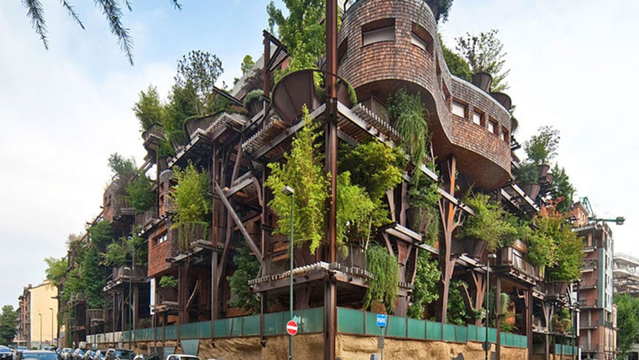Wow... This Apartment Building In Italy Has 150 Trees Growing Out Of It