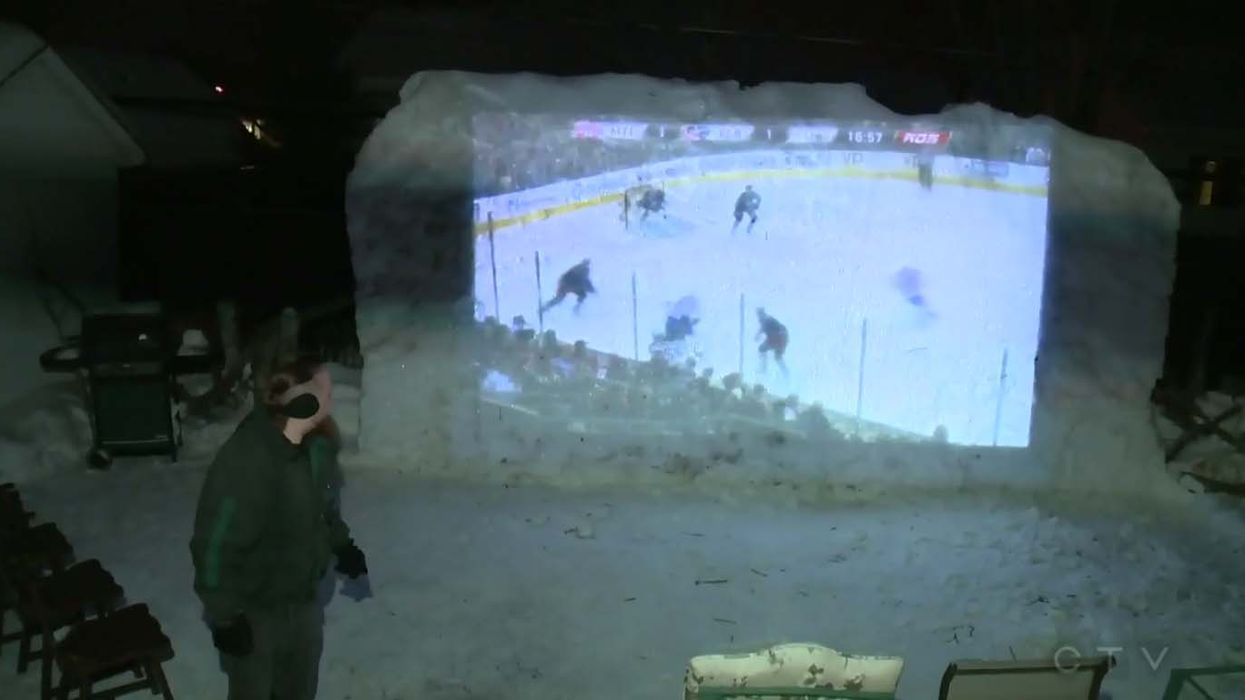 Quebec Man Builds Backyard Theater To Watch Montreal Canadiens Games