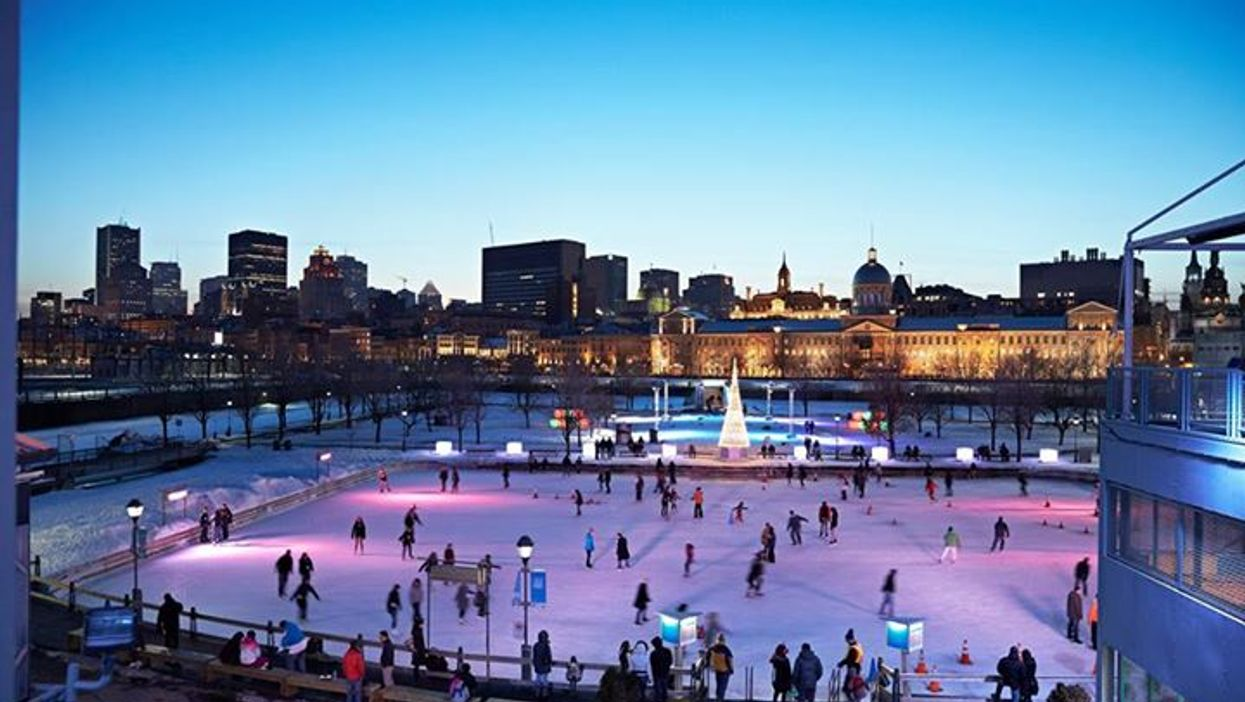 """""""Romantic Thursdays"""" At Montreal's Old Port Skating Rink Is The Perfect Winter Date Idea"""