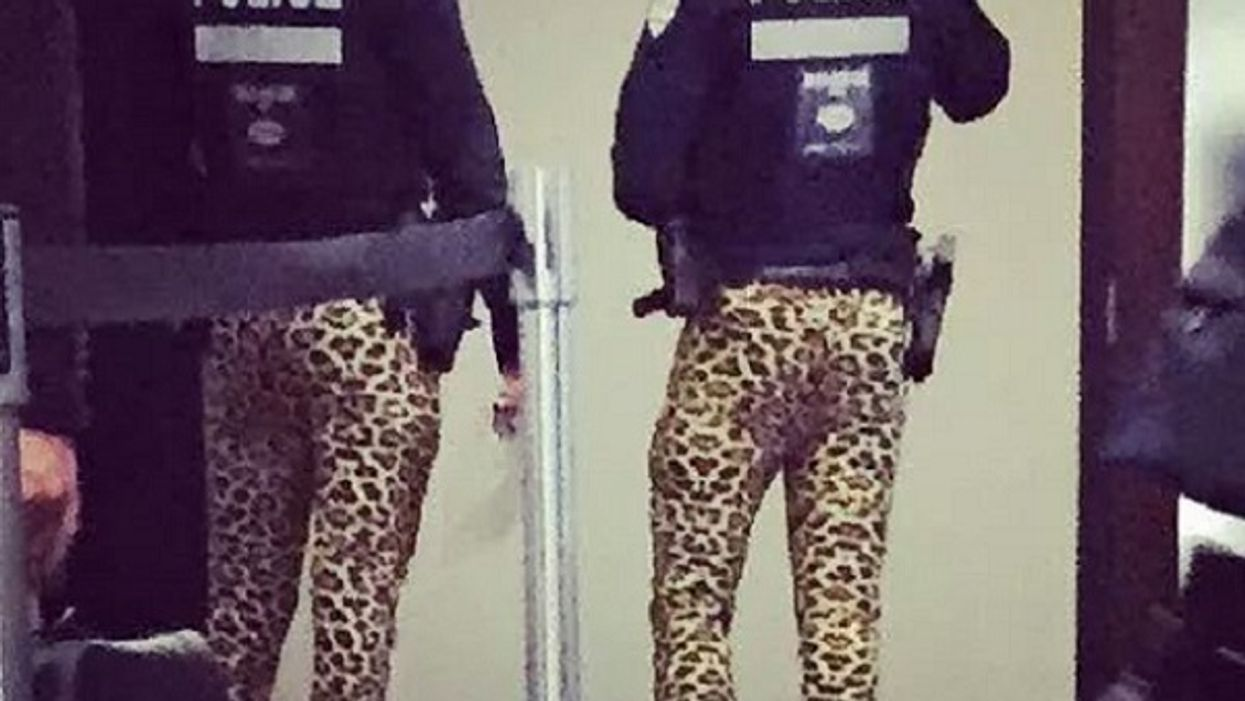 Montreal Police Spotted In Leopard Print Tights