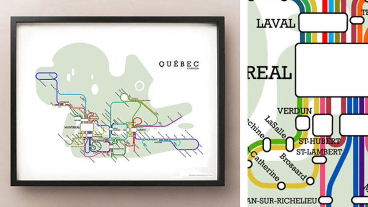 19 Different Maps Of Montreal To Rep The City On Your Walls At Home