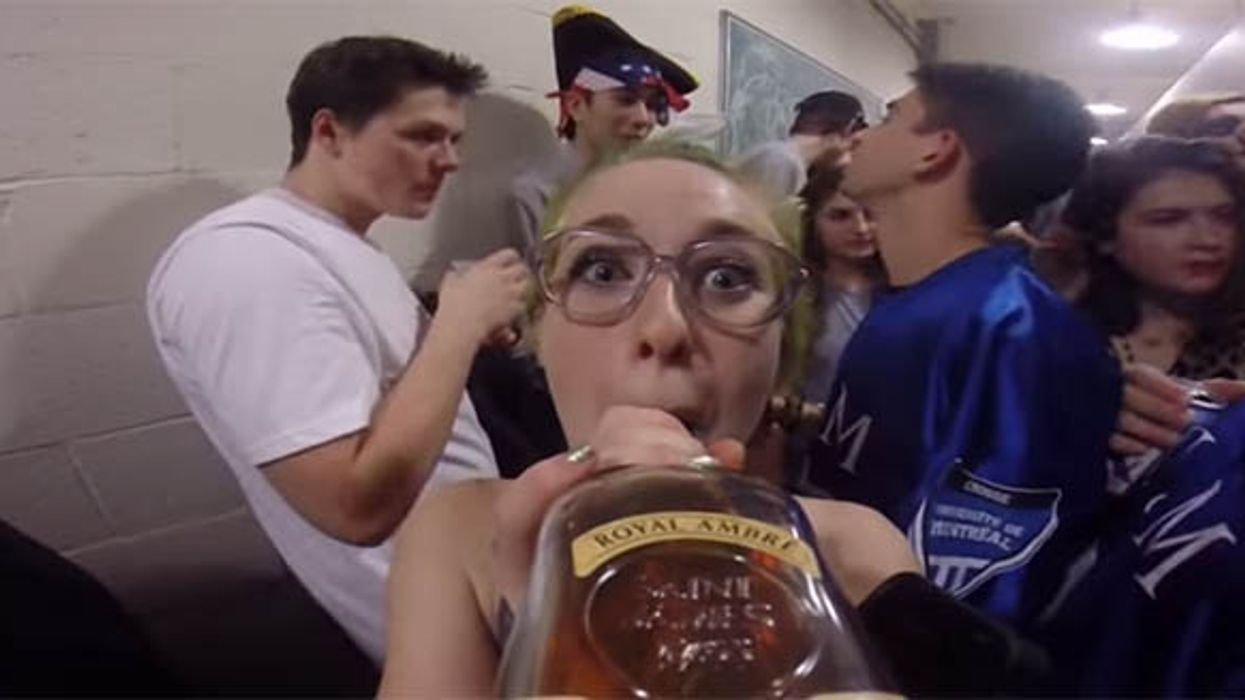 What Happens When A Montreal McGill Student Puts A GoPro On A Tequila Bottle At A Frat Party