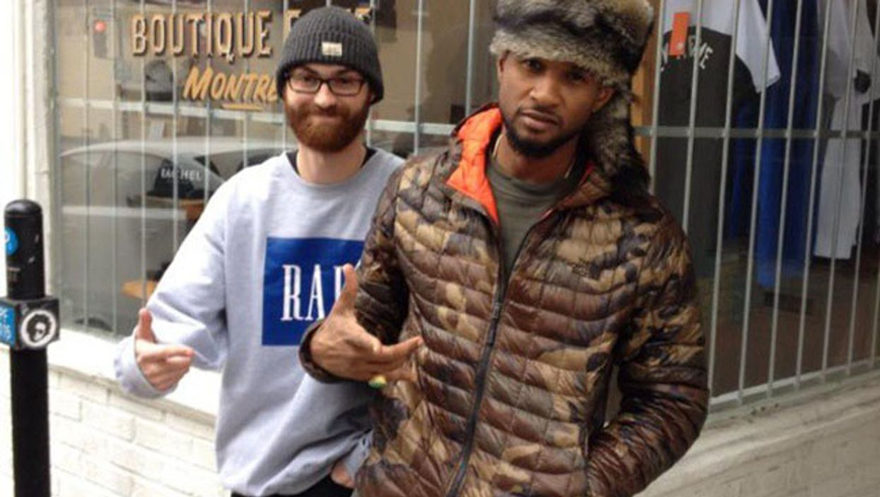 Usher Spotted In Montreal's Le Plateau