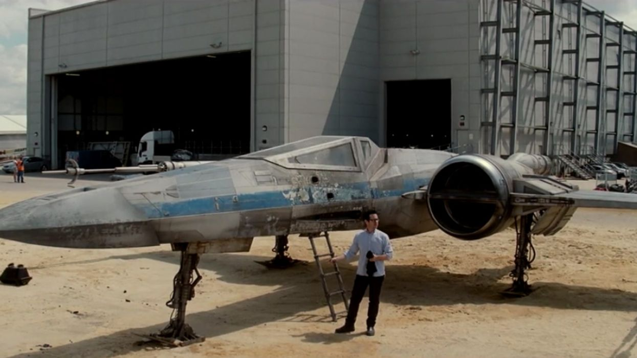 Director J.J. Abrams Finally Unveils The X-Wing From The Upcoming Star Wars: Episode VII Movie