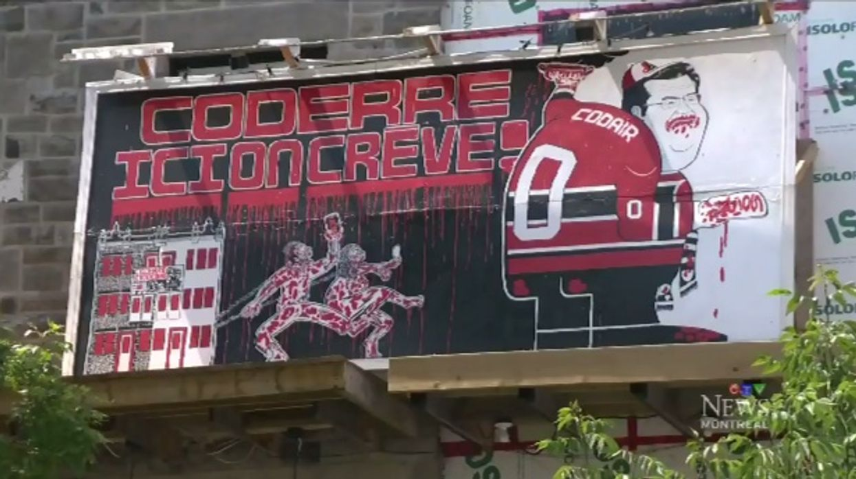 New Montreal Mural Surfaces On Saint-Catherine Street That Bashes Mayor Denis Coderre