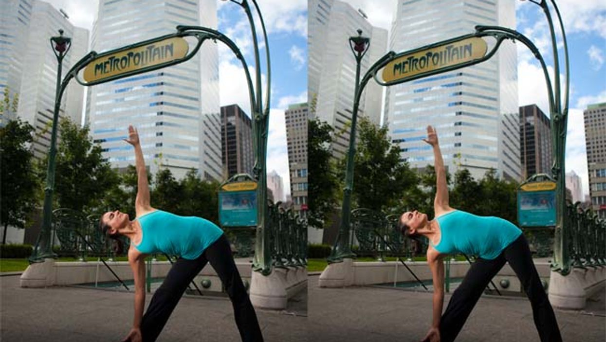 Free Montreal Urban Yoga Poses Up Today At Square Victoria