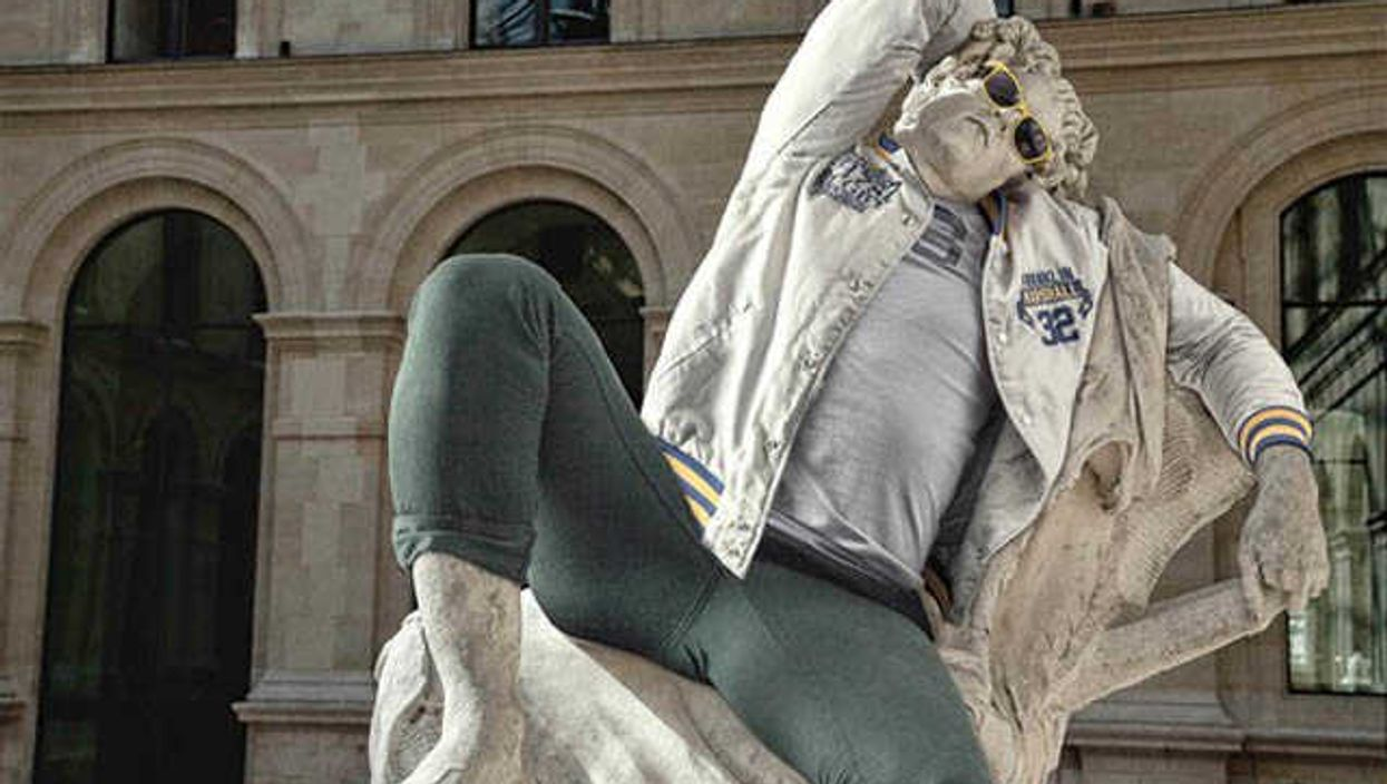 Classic Sculptures Dressed Up Like Hipsters
