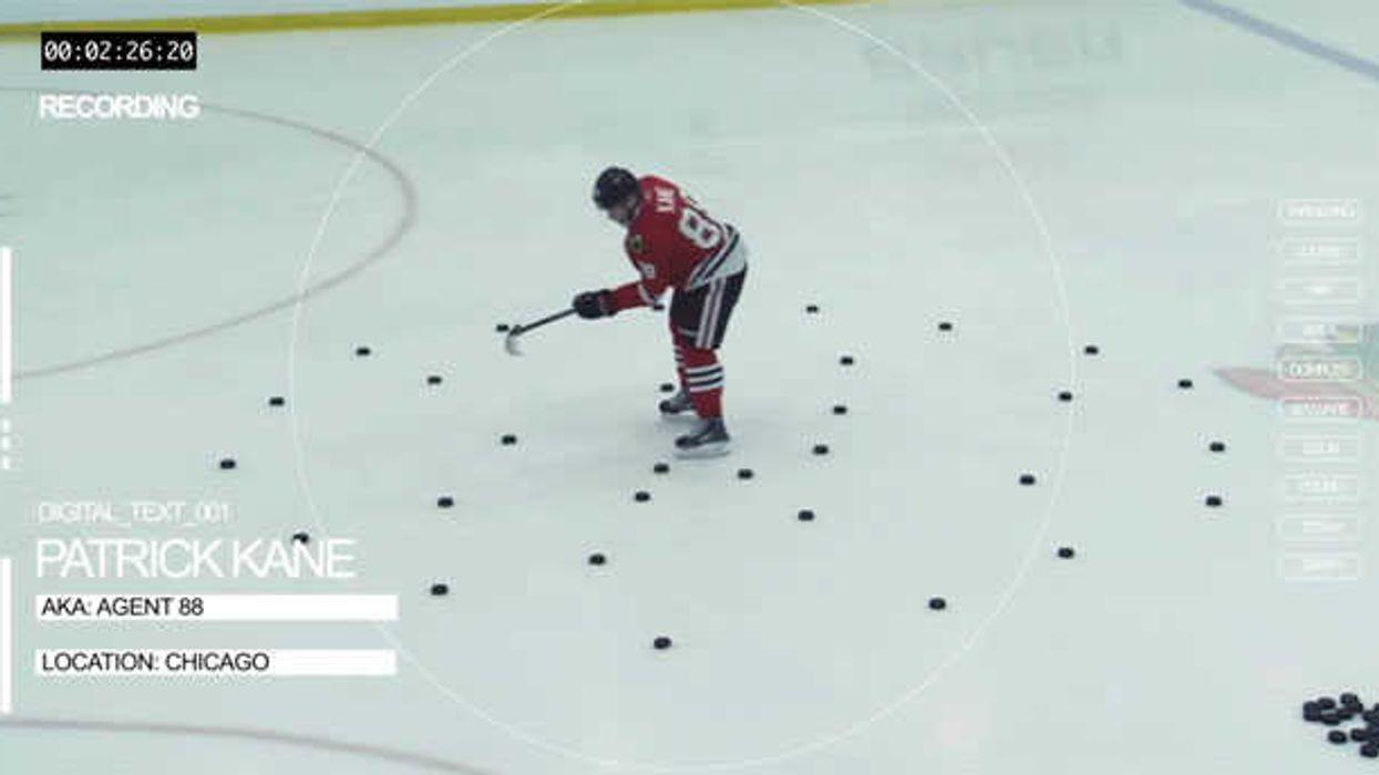 NHL Player Patrick Kane Is A Stickhandling Super Human