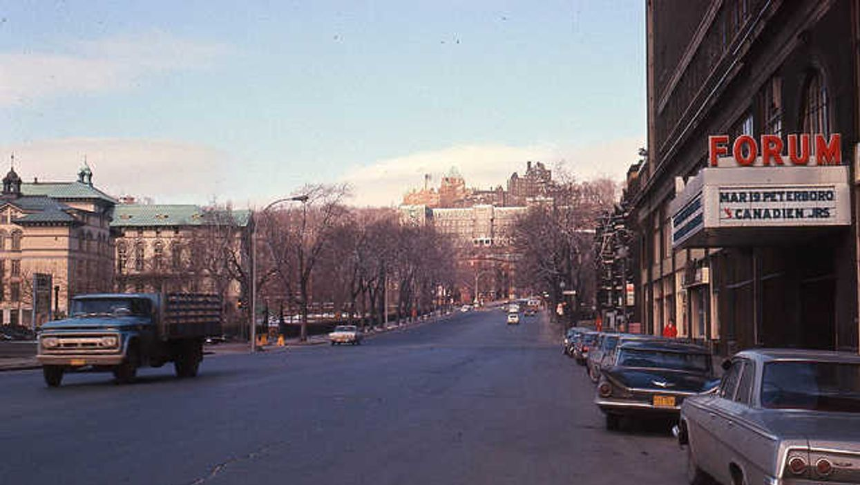 The Montreal Forum And Atwater Street In 1964