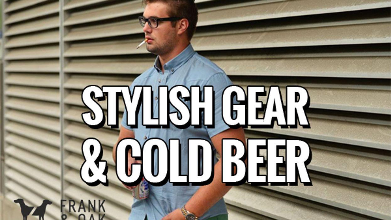 Stylish Gear & Cold Beer w/ Frank & Oak