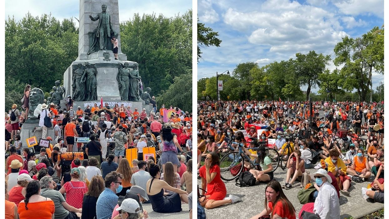 Montrealers Gathered To #CancelCanadaDay In Solidarity With Indigenous Leaders (PHOTOS)