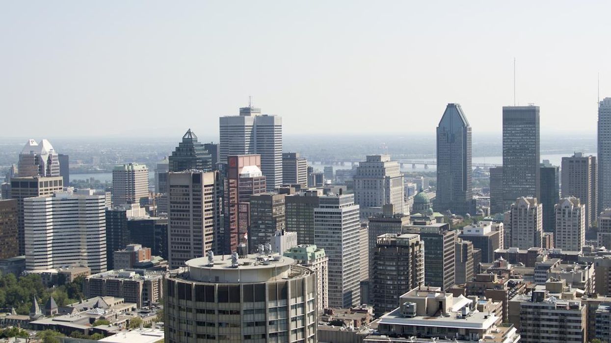 The Whole Montreal Area Is Under A Smog Warning Because Of Forest Fire Smoke