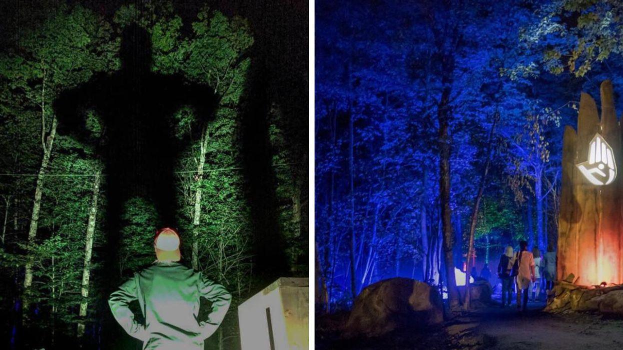 Mont Tremblant Has An Illuminated Forest Path: Tonga Lumina
