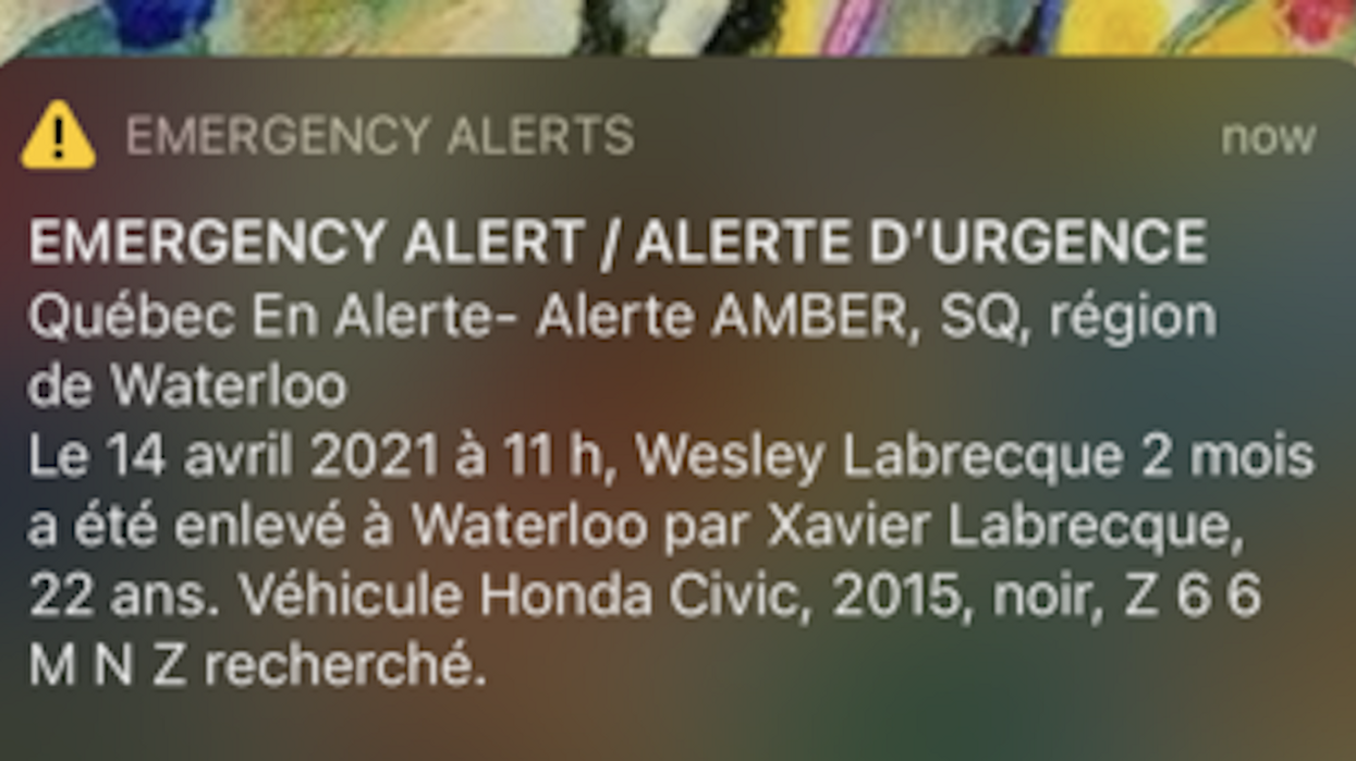 Quebec's Amber Alert Has Been Cancelled & The Baby Is 'Safe & Sound'