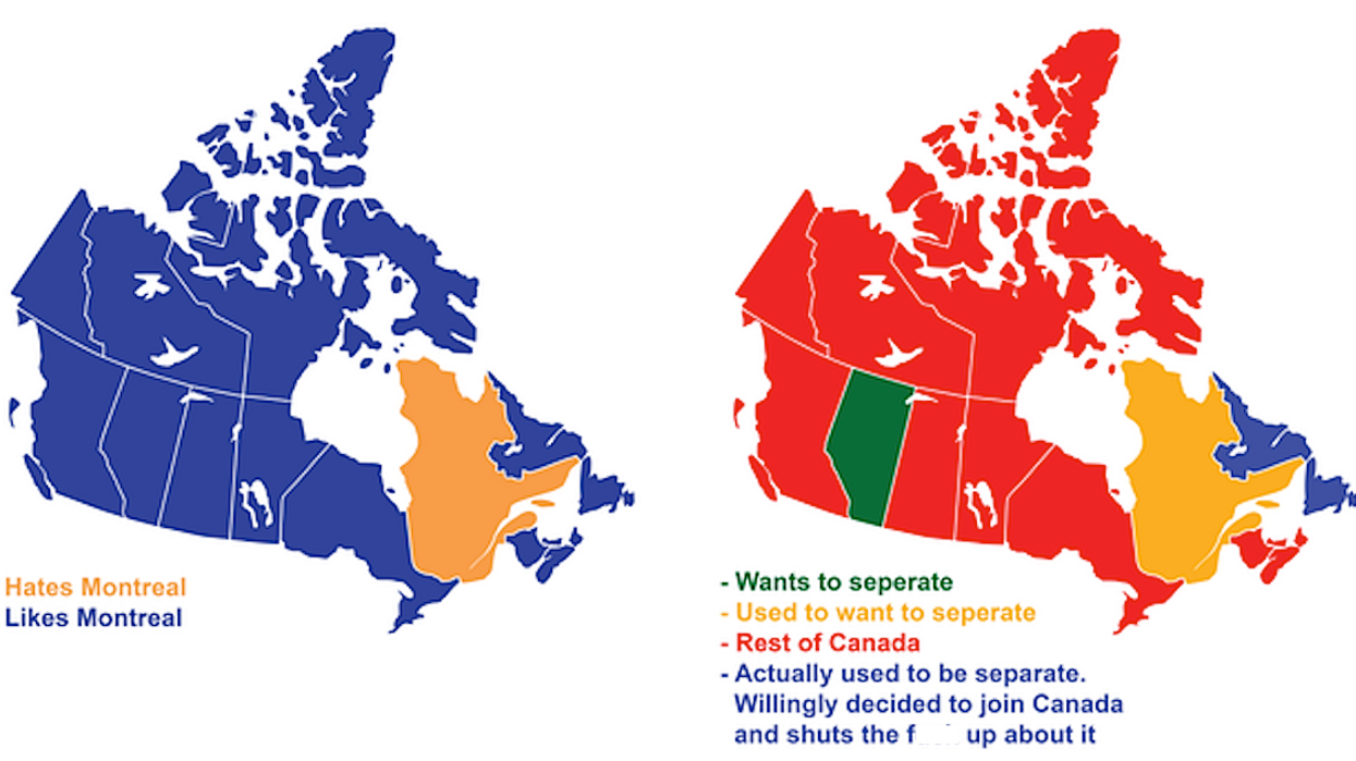9 Maps Showing Hilariously Honest 'Ways To Divide Canada'