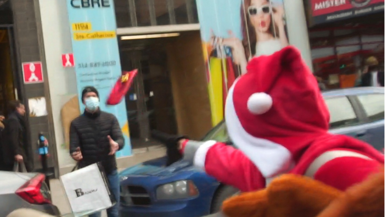 Montreal's Chaotic Do-Gooders Are Back & They Gave Gifts To Random People Downtown (VIDEO)