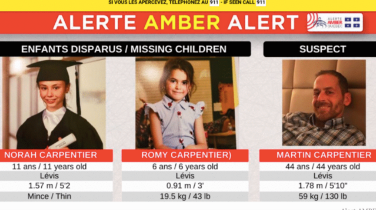 The Suspect Of Quebec's Recent Amber Alert Has Still Not Been Found