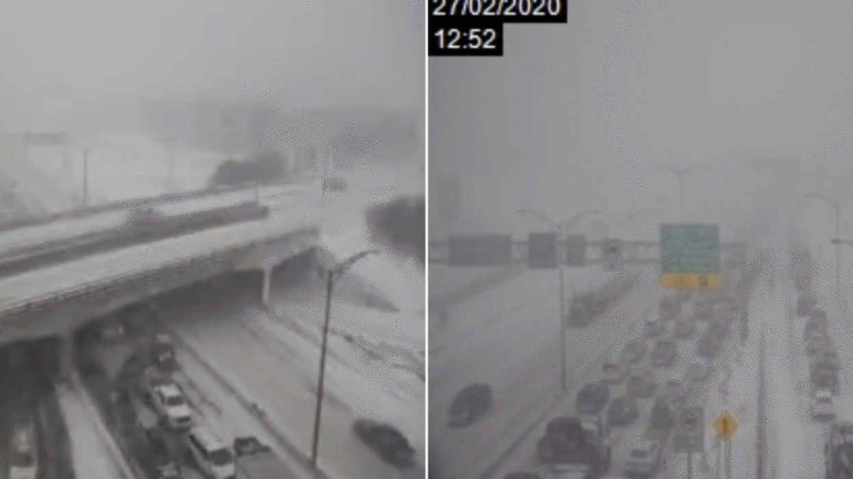 Quebec City Accident Sees Semi-Truck Fall Over An Overpass (Photo)