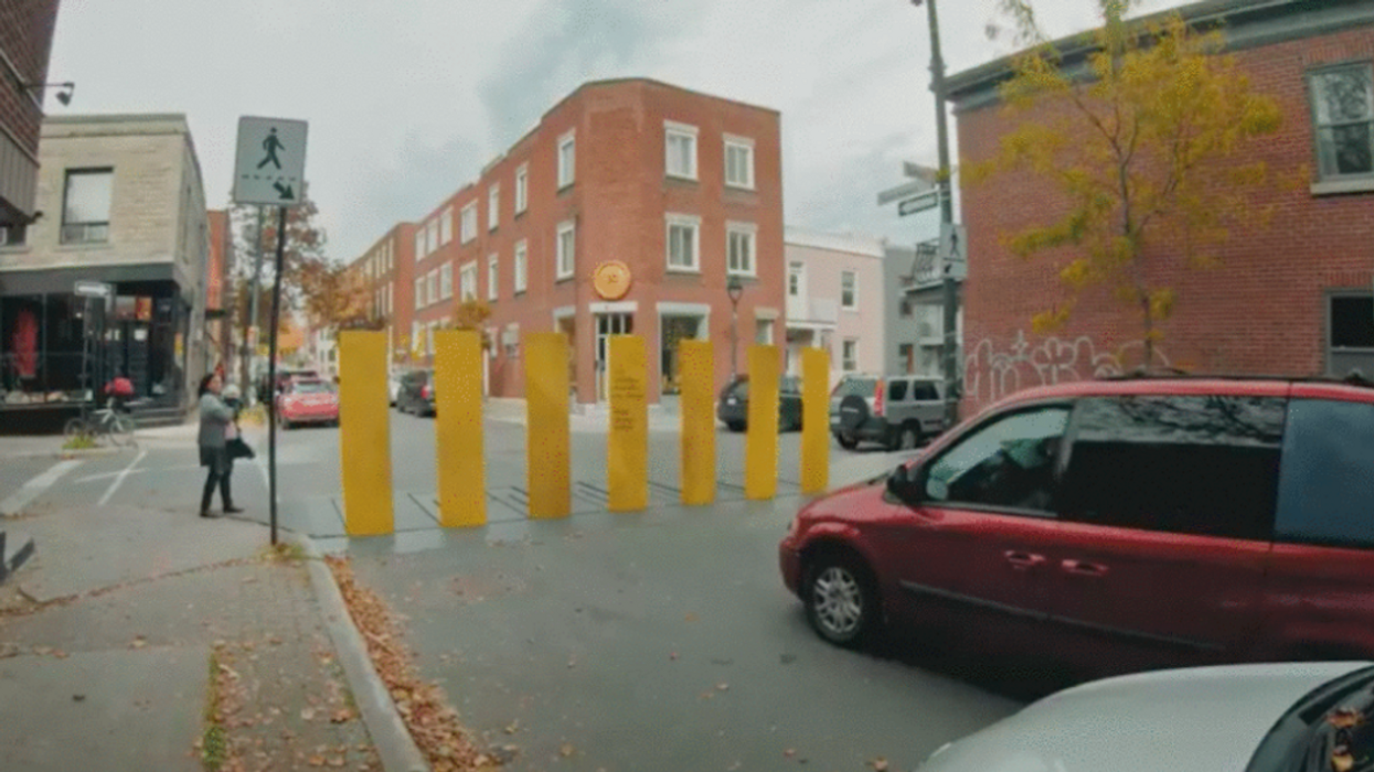 SAAQ Pranked Montreal Drivers With A Pop-Up Fence To Force Them To Stop For Pedestrians