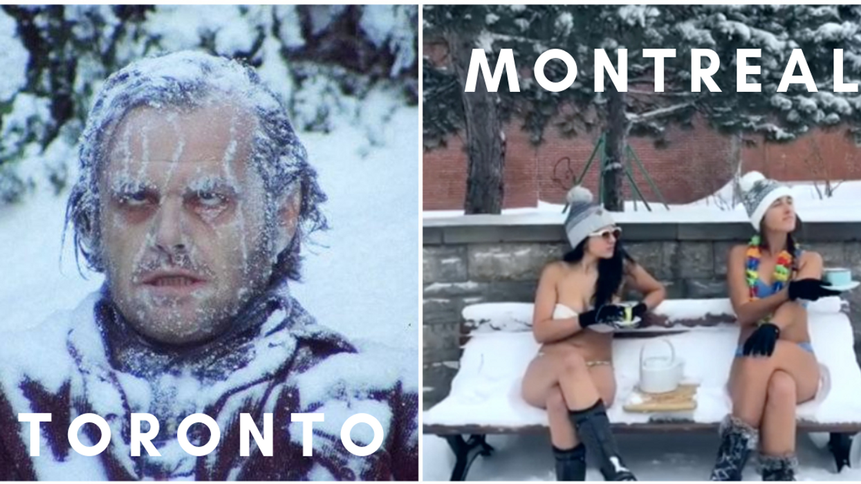 """Torontonians Are Freaking Out About Their """"Record"""" Snowstorm And People In Montreal Can't Stop Making Fun Of Them"""