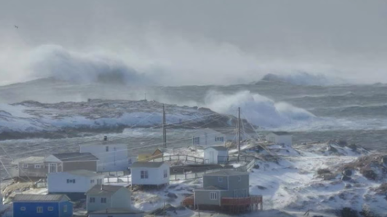Violent Wind Storm Is Hitting Canada's East Coast And Triggering Largest Waves On The Planet (Video)