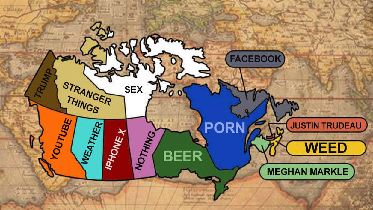 What Each Province In Canada Googles The Most