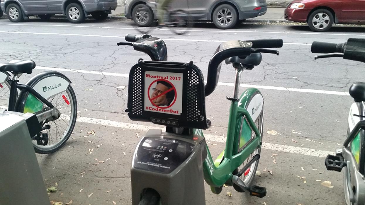 "Montreal Now Has ""Anti Denis Coderre"" Bixi Bikes"