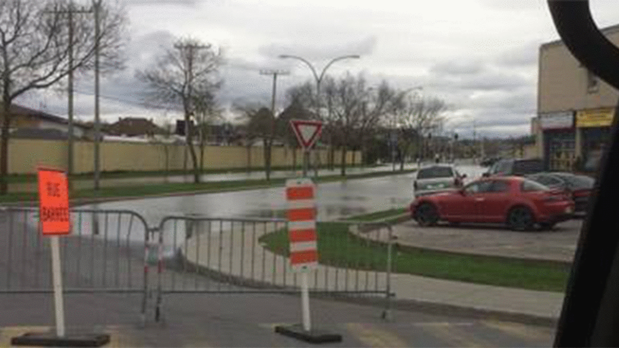 Pierrefonds Blvd. Is Now Flooded Like A River (Video)