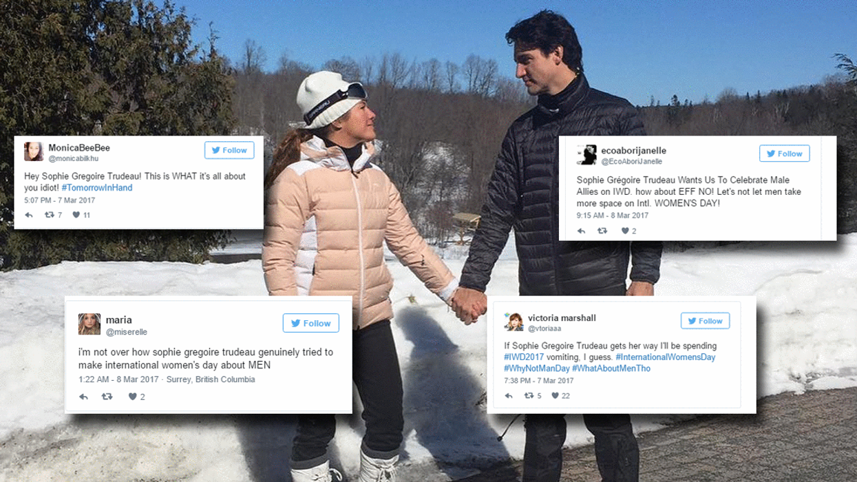 """Canadians Absolutely Lost Their Minds Over Sophie Trudeau's """"Women's Day"""" Post (25 Tweets)"""