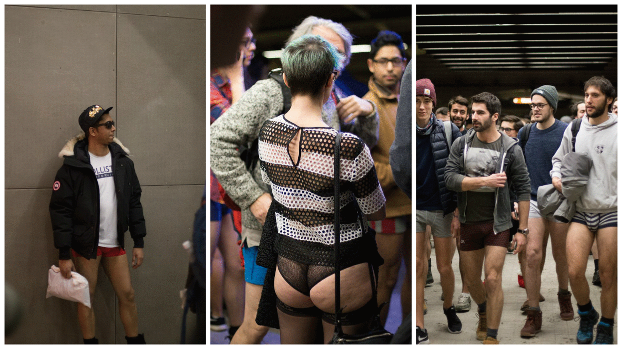 """30 Photos From The """"No Pants Montreal Metro Ride 2017"""""""