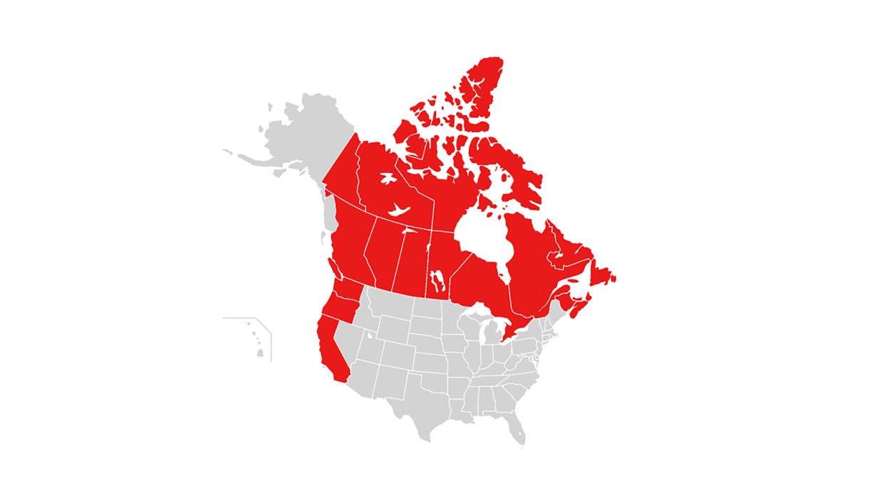 Dear California, Oregon & Washington, Canada Invites You To Join Our Country