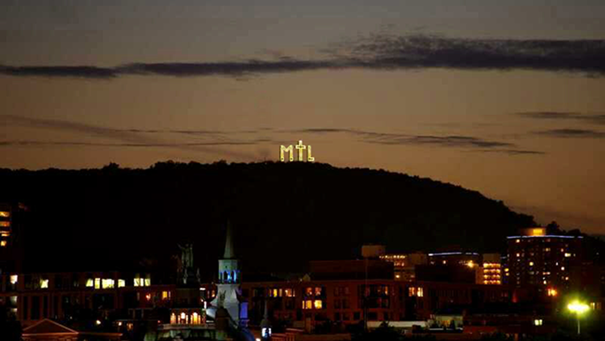 """Montreal To Possibly Get A Giant """"MTL"""" Sign On Top Of Mont-Royal"""