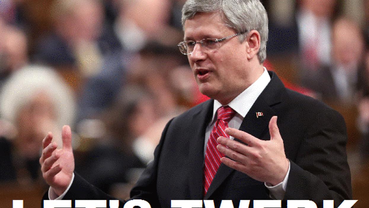 Prime Minister Stephen Harper Likes to Twerk