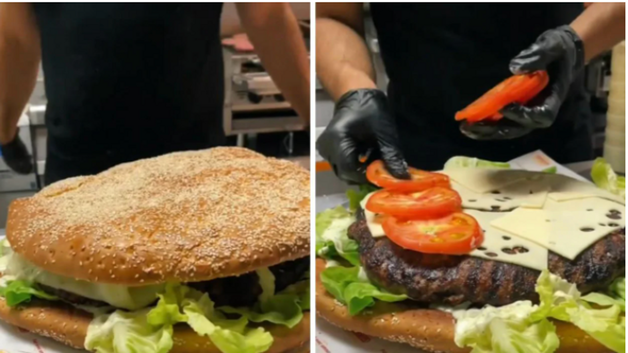 Allons Burger Has A 4 Pound Burger & It's Made With An Ostrich Egg