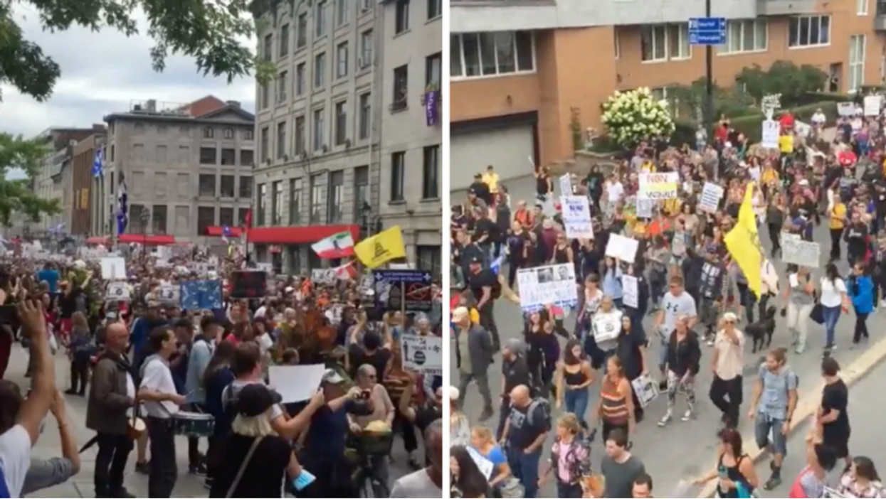 A Huge Protest In Montreal Took Place Against The Vaccine Passport This Weekend (VIDEOS)