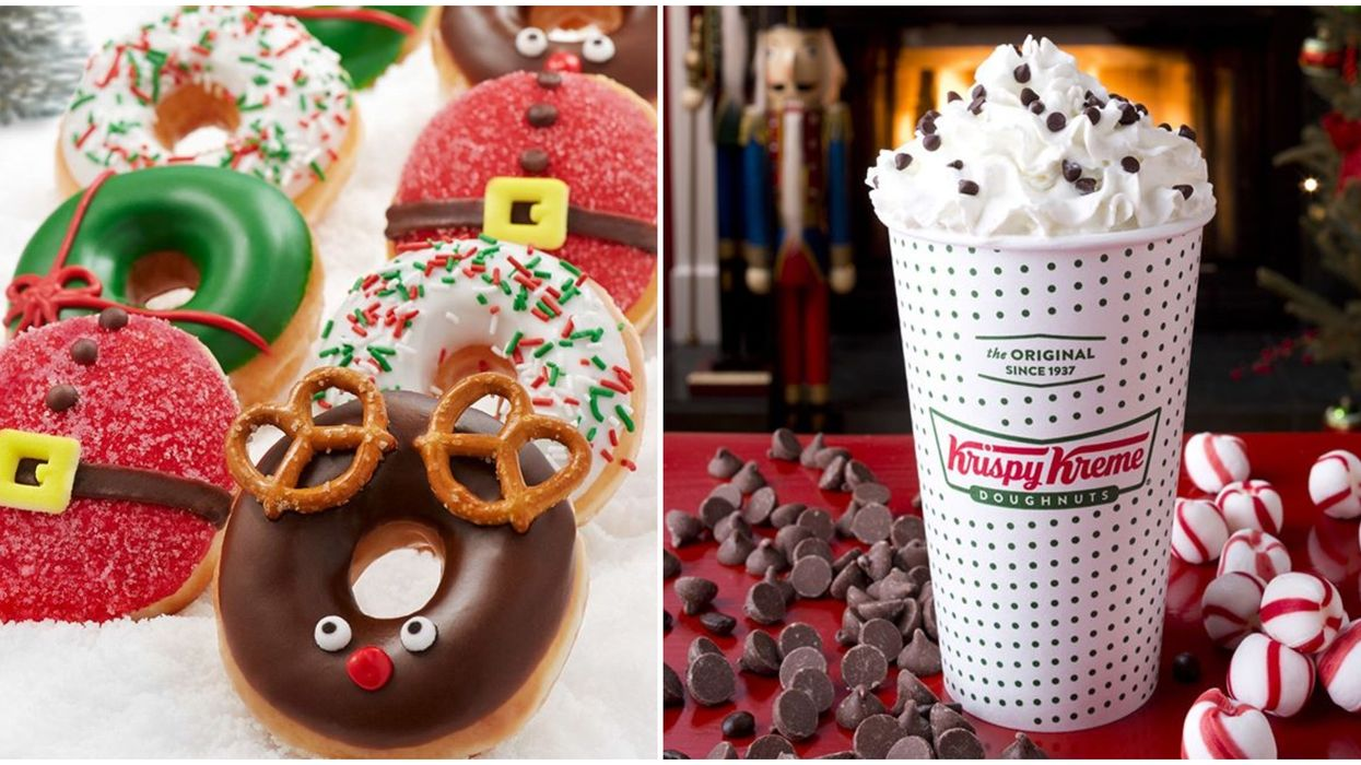 Krispy Kreme Montreal Locations Are Now Serving Up Limited Edition Holiday Doughnuts
