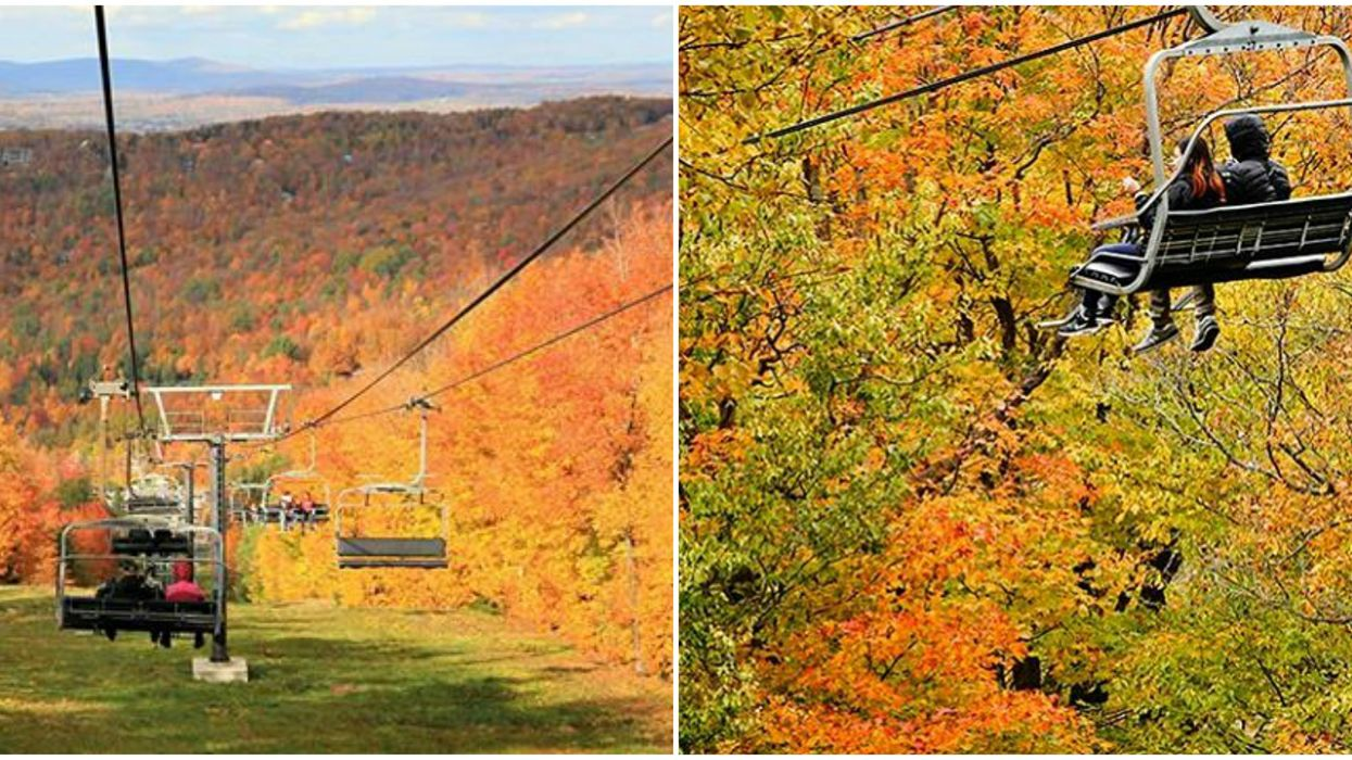 Mont-Sutton's Fall Chairlift Rides Offer The Best Foliage Views In Quebec
